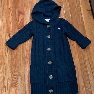 Abercrombie & Fitch Long hoodedWool Cardigan